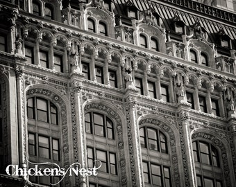 New York, New York Fine Art Photograph, Black and White City Scape, Building Photography