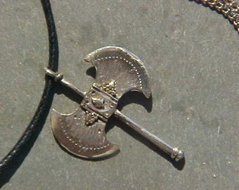 VIKING BATTLE-AXE Reproduction from Swedish Grave Cast in Sterling Silver