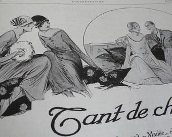 vintage poster, art deco magazine, 1925,  advertisements, antique, fashion,  twenties,black and white,  french art,