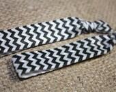 Black Chevron Hair Ties - Set of Two