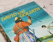 Vintage Little Golden Book..'David and Goliath'..1974..Free Domestic Shipping..