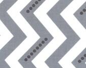 Chevron Moda Simply Color White Graphite Grey Dotted Zigzag  10804 - 13