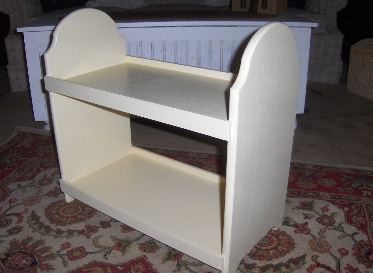 Marvelous photograph of Unfinished Doll bunk bed for hollimcleod by PineandMore on Etsy with #535B78 color and 1500x1098 pixels
