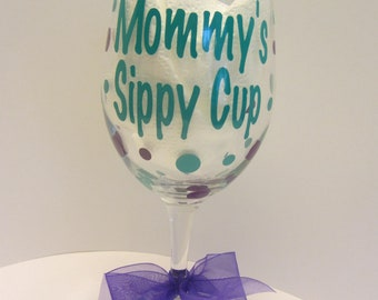 Extra large personalized wine glass- sippy cup