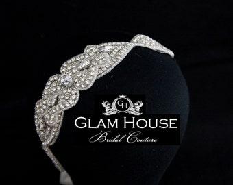 Headband,vintage weddings,wedding hair accessories,bridal headpiece,bridal hair accessories,crystal headband,headbands,baby headband