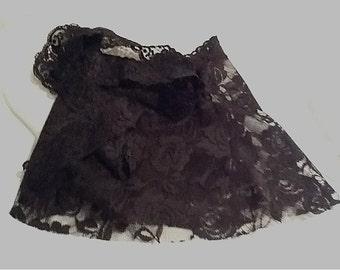 TODDLER Dance/Ballet Short Wrap Skirt in Black Lace