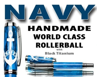 Gift for someone in the US Navy - Rollerball Pen - World class craftmanship ,Veteran Gift