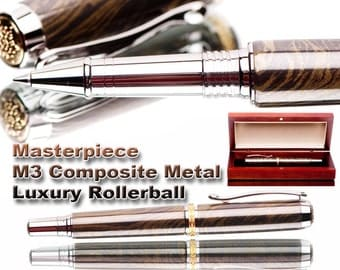 top of the line Rollerball Pen Handmade M3 metal Gunsmoke color  executive gift  M3 metal composite fine writing instrument