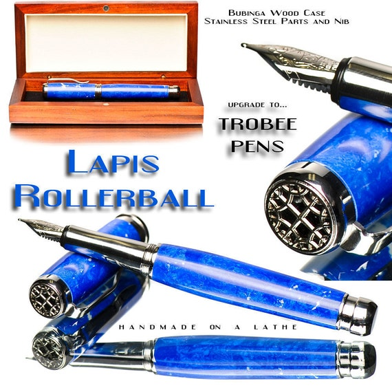 Lapis Fountain Pen Beautifully Handcrafted Blue Top of the Line Writing