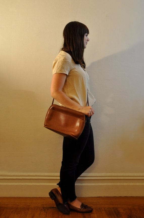 Reserved for Jessica- 80s/70s Soft Brown Leather Coach Purse