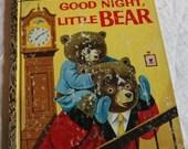 Vintage Little Golden Book, Good Night, Little Bear, A Edition, Good Night, Little Bear, Golden Book, Good Night Little Bear, CLEARANCE