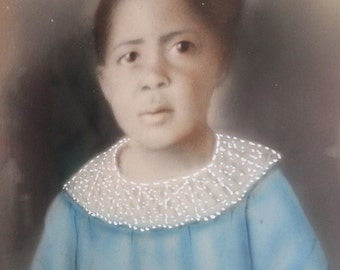 Chalk Portrait, African American Child Portrait, Child Portrait, Chalk, Child, African American, Portrait, Black Americana