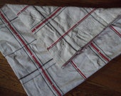 Vintage Twin coverlet White, red, black Bedspread