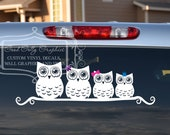 Stick family Owl family vinyl vehicle decal