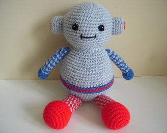 Crocheted Stuffed Amigurumi Large Robot