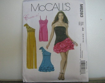 Party or Bridesmaid's Dress Pattern, Create It Mix and Match Pattern Pieces, Mc Call's 6283, SZ 6 through 12
