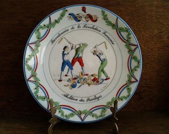 Vintage French Revolution Side Plate circa 1940-50's / English Shop
