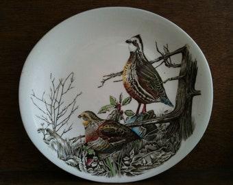 Vintage English Game Birds Plates Set of 3 Dinner Lunch circa 1930-40's / English Shop