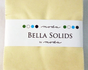 1 Snow Bella Solids Charm Pack by Moda