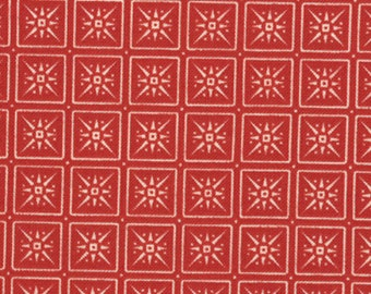 SALE 1 Yard Reindeer Games Berry Snowflakes by Sandy Gervais for Moda