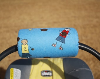Soft Flannel Infant Car Seat Handle with velcro closure basketball theme