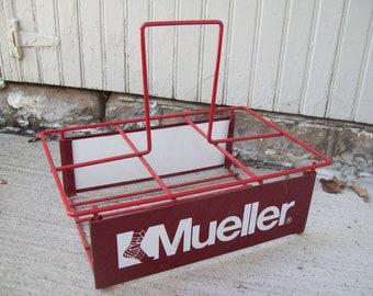 Mueller Red Metal Caddy / Carrier Basket