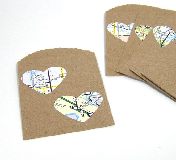 Small Wedding Gift Bags: Mini Paper Gift Bags Small Wedding Party Favors Map By