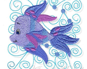 Swirly Fish 2, 3 Sizes - Machine Embroidery