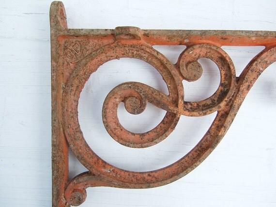 Cast Iron Wall Shelf Bracket Antique French