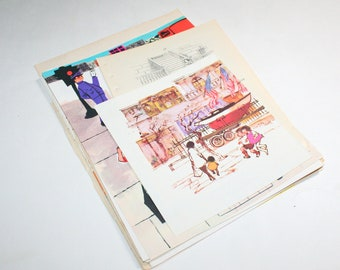 Vintage Ephemera Collage Kit - Life in the City 2