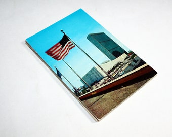 25 Vintage United Nations -  New York City Chrome Postcards Blank - Wedding Guestbook