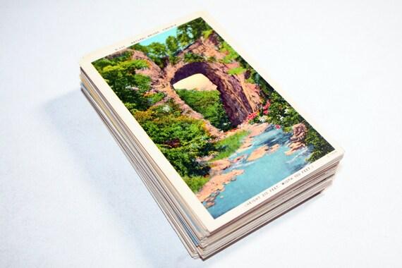 100 vintage virginia postkarten blanko reisen themed - Blanko postkarten ...