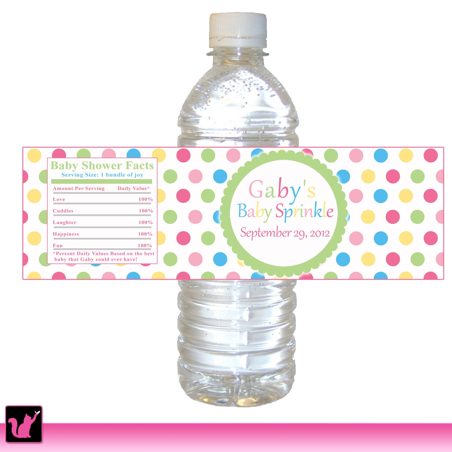 baby shower water bottle labels template baby water bottle