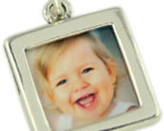 Sterling Silver square double sided photo frame.