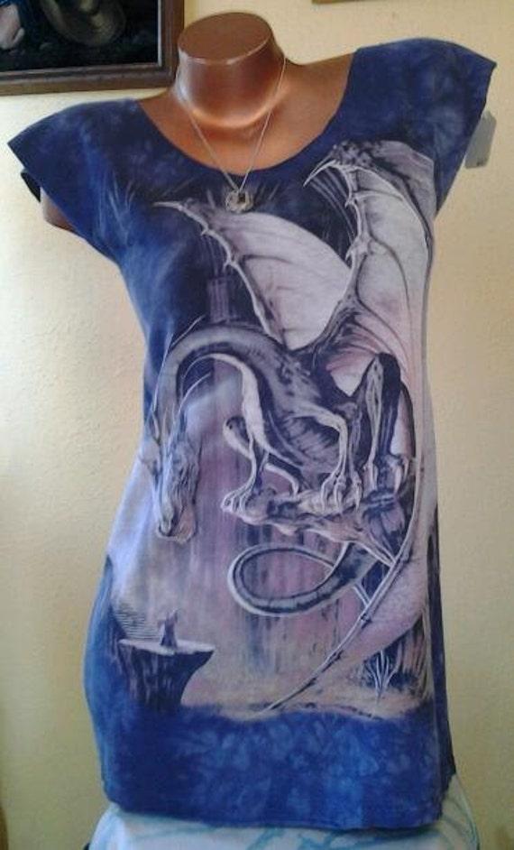 Epic DRAGON VS. WIZARD Reshaped T-Shirt / Dress