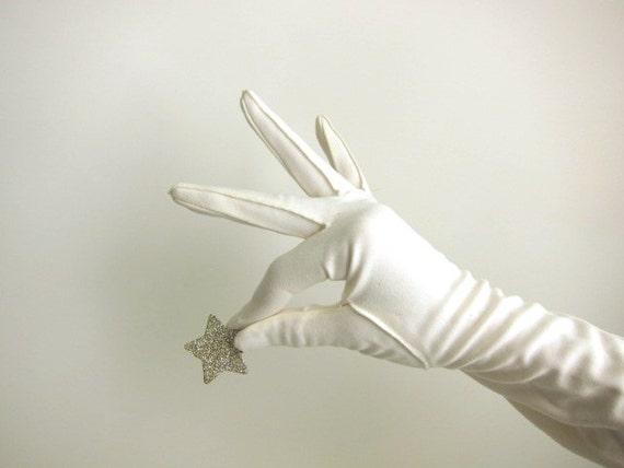 Long White Dress Gloves