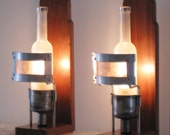 Vinegar Bottle and Carburetor Desk/Wall Sconces