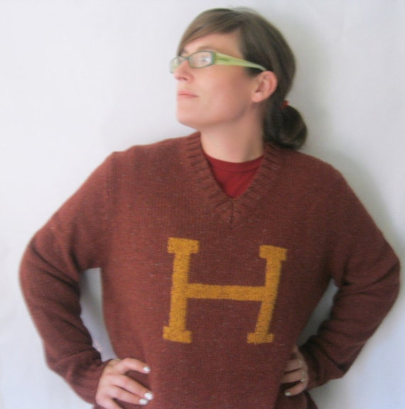 Sample Sale - Ready to Ship NOW - The Weasley Sweater -  Harry Potter Gryffindor Colors 100% wool Men's Large or Women's XL