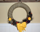 Fall Fabric and Felt Wreath