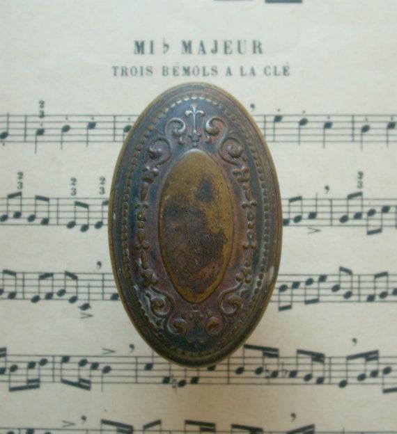 Vintage Door Hardware - Single Brass Oval Doorknob