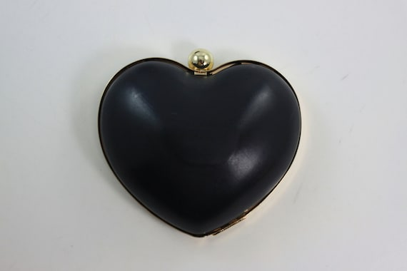 5 x 4 inches (13 x 10 cm) - Heart Dressing Case - Golden Metal Purse Frame with Covers (CBF-S09)
