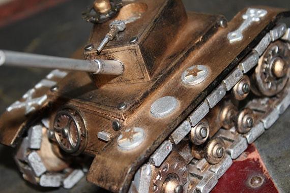 Steampunk Tank - Wooden Handmade - Home Decor