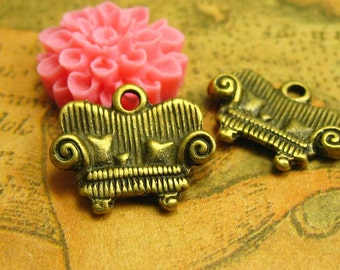 20 pcs Antique Bronze Couch Charms Sofa Charms 16x13mm CH1207