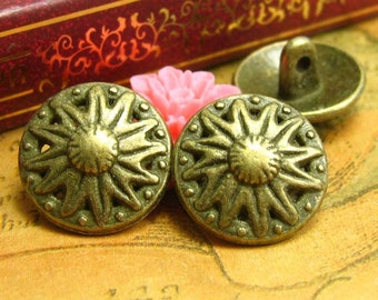 20 pcs Vintage Metal Buttons 16x16mm CH1210