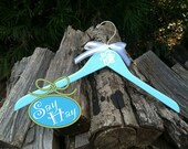 Bridal Party Monogram Wooden Hangers