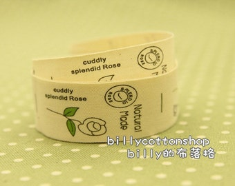 v277 - cotton tape/ sewing tape/ Ribbon - cotton - floral