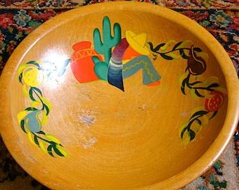 Take 20% OFF Vintage Beautiful Siesta Rio Grande Woodenware Fruit Bowl