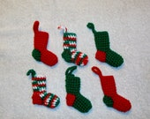 Teeny Tiny Christmas Stocking Ornaments Set of 6