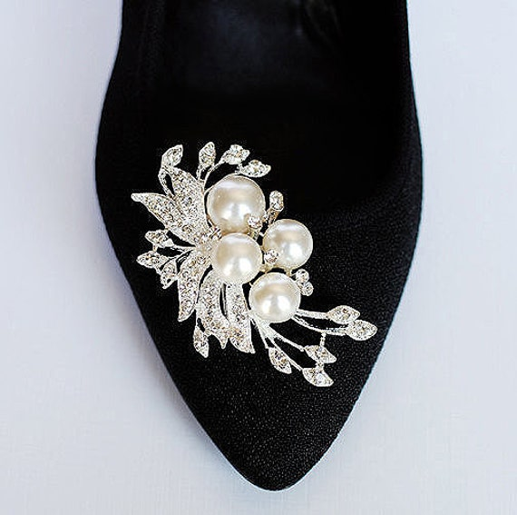 Rhinestone Wedding Shoe Clips