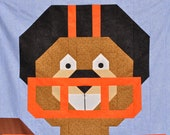 Football Beaver Quilt pattern - with multiple sizes